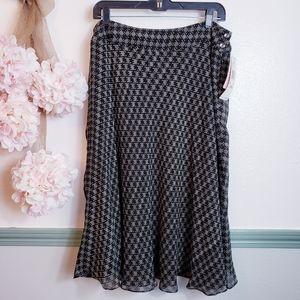 Anne Klein Gorgeous Silk Fit n Flare Skirt 18 W